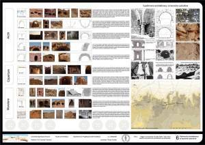 Tavola sinottica delle tecniche costruttive utilizzate nei villaggi di pietra grezza e gesso Jebel Gharbi libico, costitutiti da muri a sacco e falsi archi.